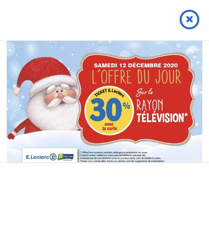 30% crédité en bon d'achat sur tout le rayon télévision - Atout sud Rezé (44)