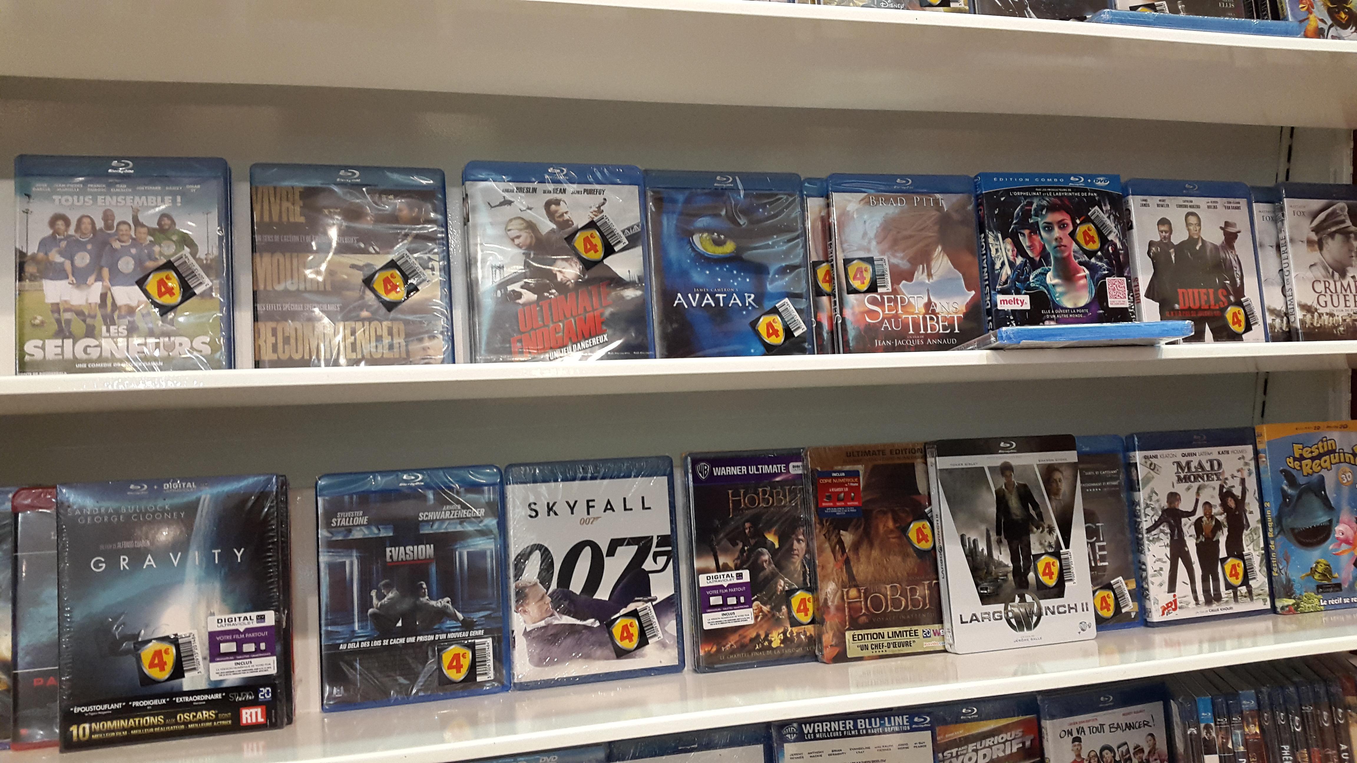 Sélection de films blu-ray à 4€ - Ex : Blu-ray Gravity