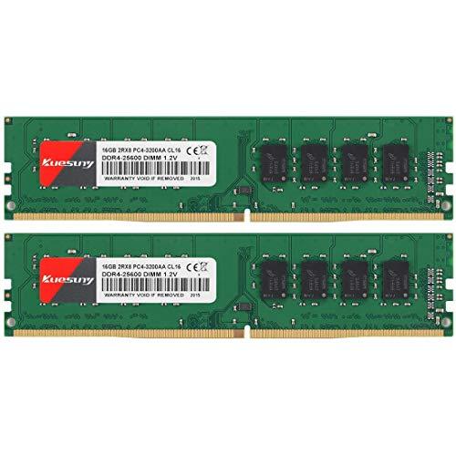 Kit mémoire RAM DDR4 Kuesuny 32 Go (2x16 Go) - 3200mhz, CL16 (Vendeur Tiers)