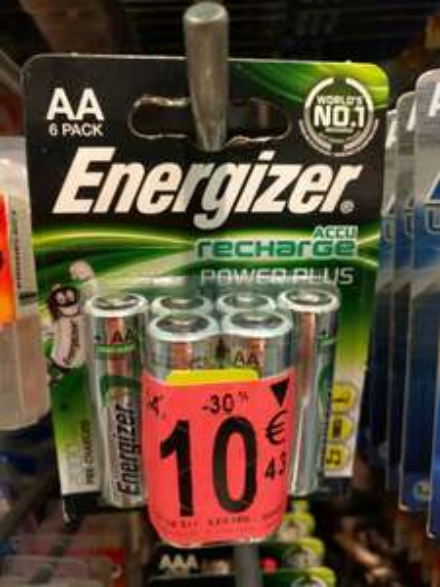 Sélection d'articles en promo - Ex : 6 piles rechargeables AA 2000mAh FAD Energizer