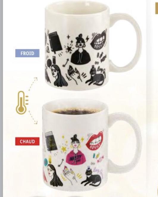 Tasse magique à couleur changeante en Porcelaine Ernesto - 300ml