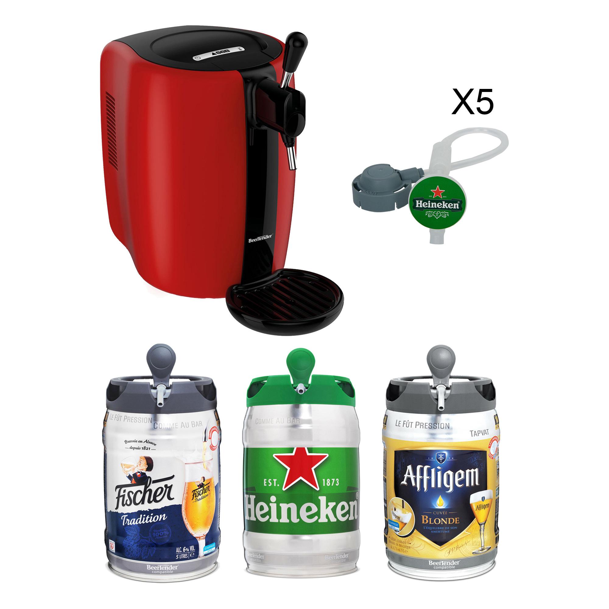 Machine à bière Seb Beertender + 3 fûts (3x 5L) + 5 tubes (Via ODR de 30€)