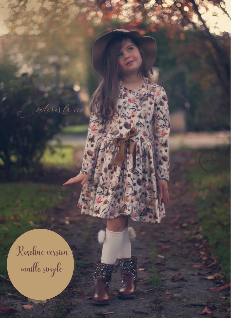 Patron de couture PDF Robe Roseline (Colores la vie - Dématérialisé)