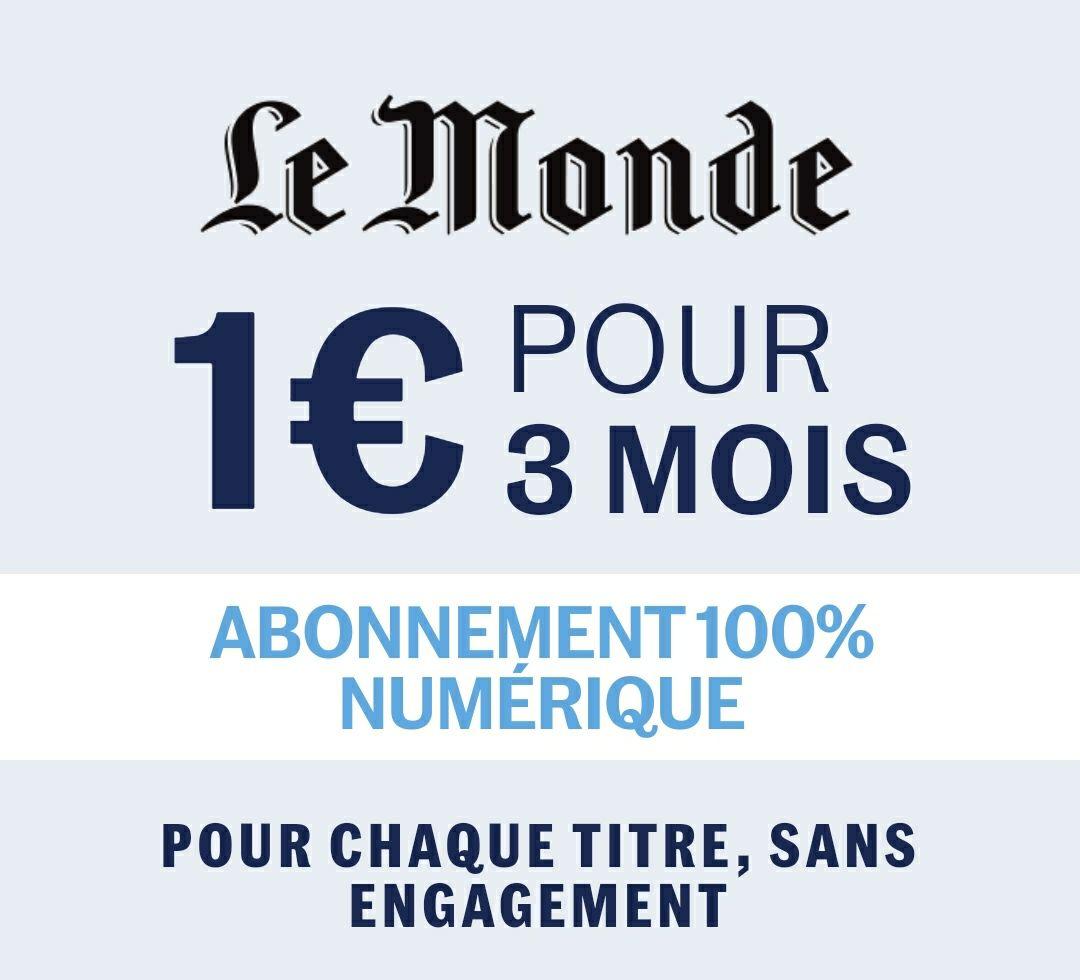 Sélection de journaux numériques à 1€ pour 3 mois - Ex : Le Monde, Télérama,... (Dématérialisé)