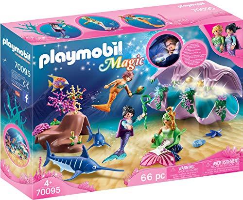 Jouet Playmobil : Coquillage Lumineux avec Sirènes - 70095