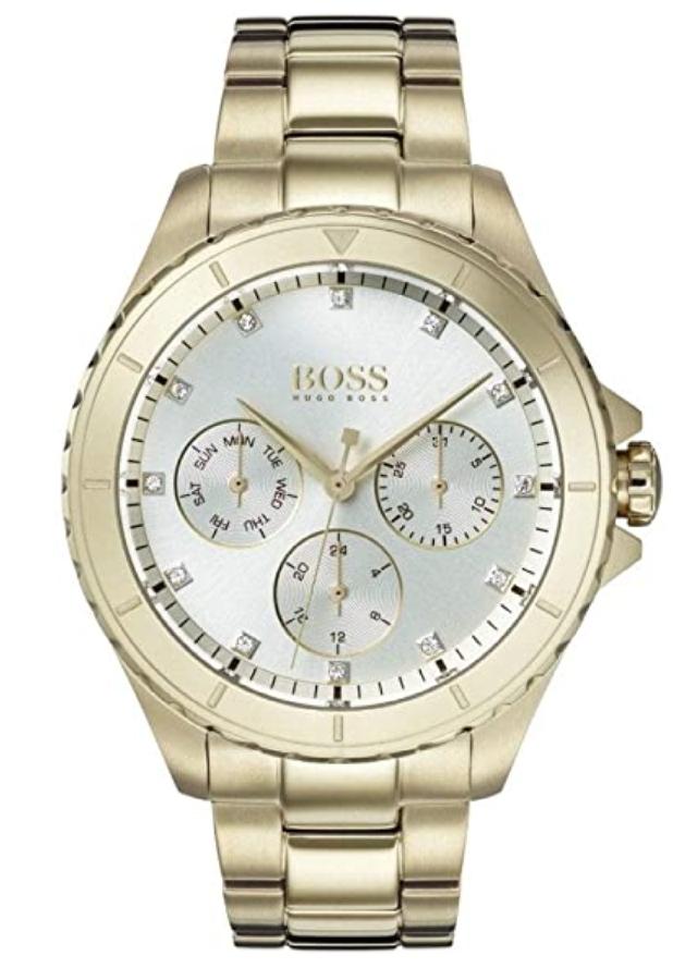 Montre Hugo Boss Multi-Cadrans avec Bracelet en Or Plaqué 1502445 Femme