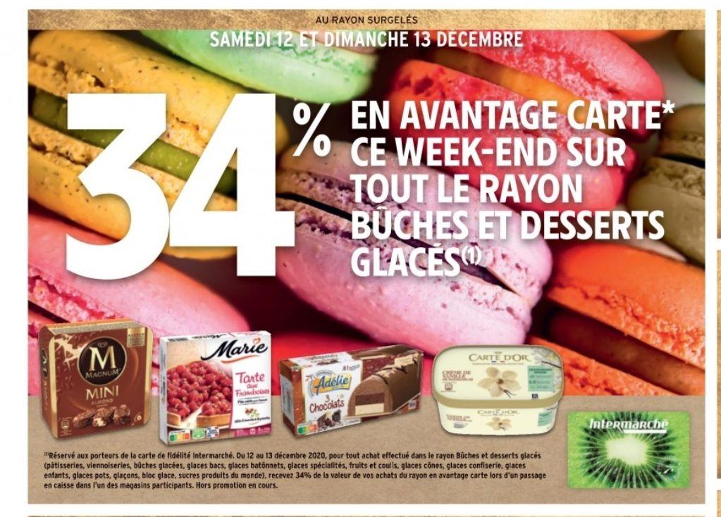 [Carte Fidélité] 34% remboursés sur tout le rayon Bûches et Desserts glacés