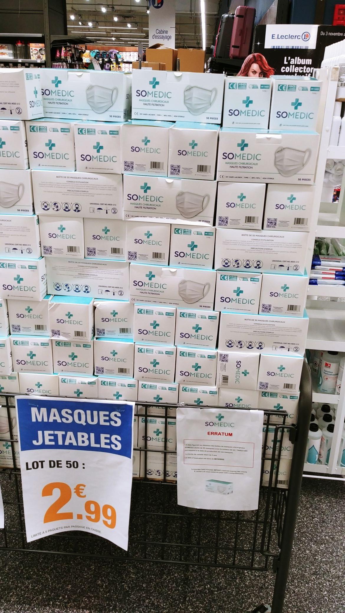 Boîte de 50 masques de protection chirurgicaux - Schiltigheim (67)