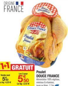 2 Poulets Douce France jaunes