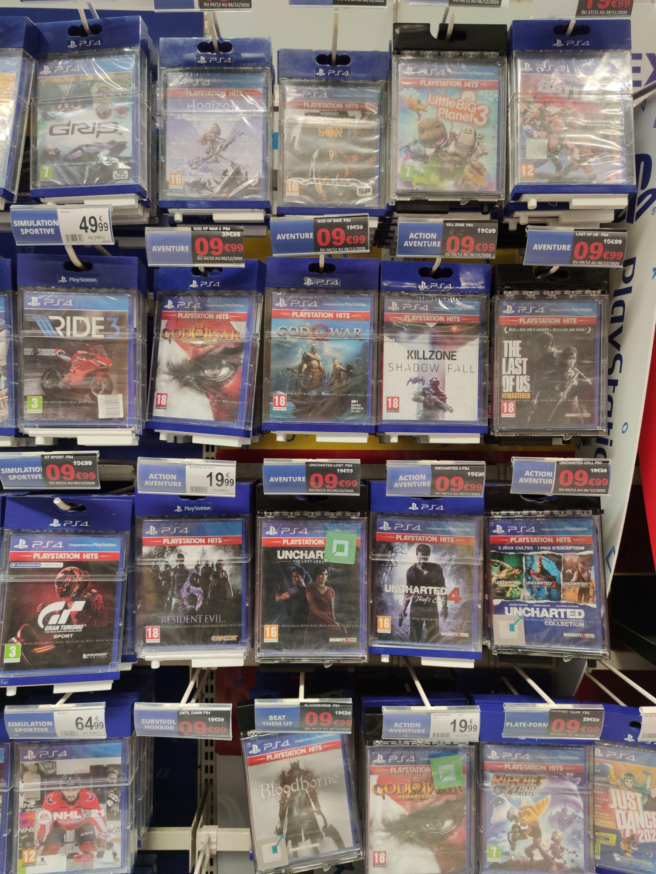 Sélection de jeux Playstations Hits en promotion - Ex: God of War (Longuenesse 62)