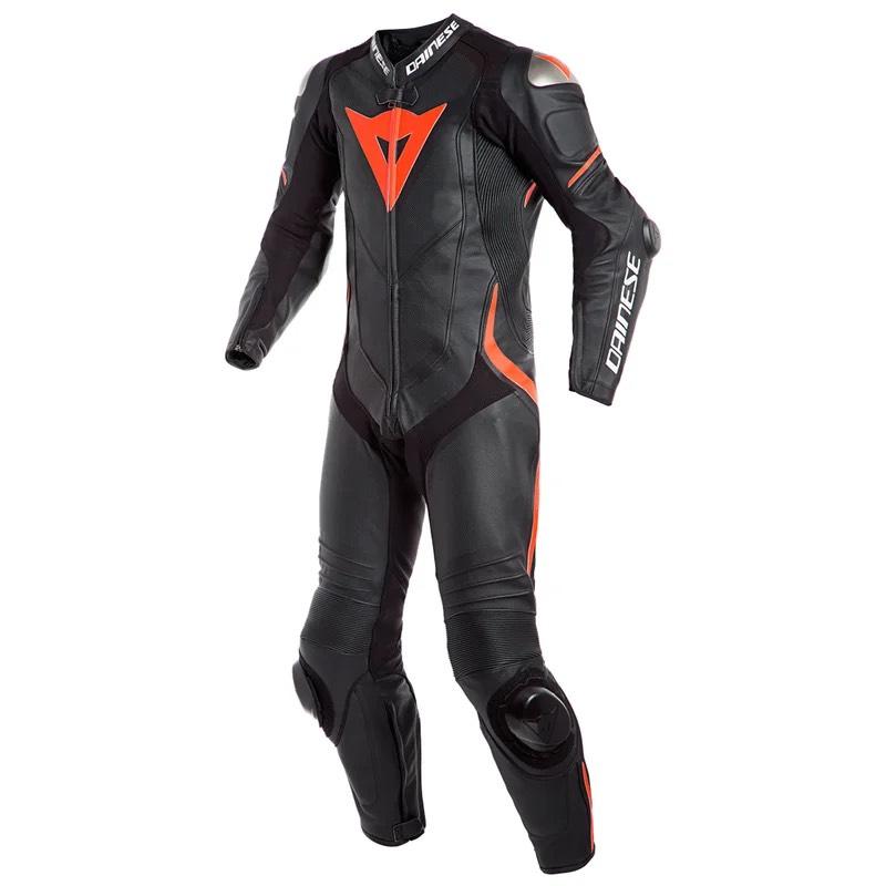 Combinaison Moto Dainese Laguna Seca 4 Professional Estiva - Noir / Rouge, Tailles 56 & 60
