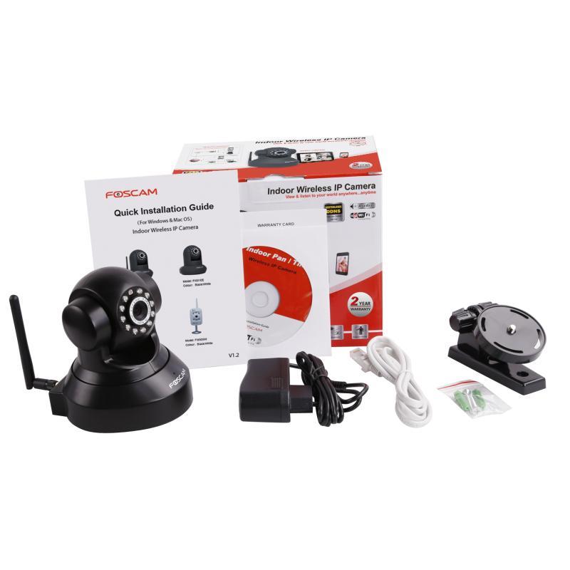 Camera IP Webcam Foscam FI8918W WiFi intérieure motorisée infrarouge - Noir