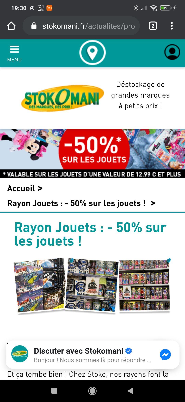 30% de réduction sur les jouets d'une valeur de 12.99€ ou plus