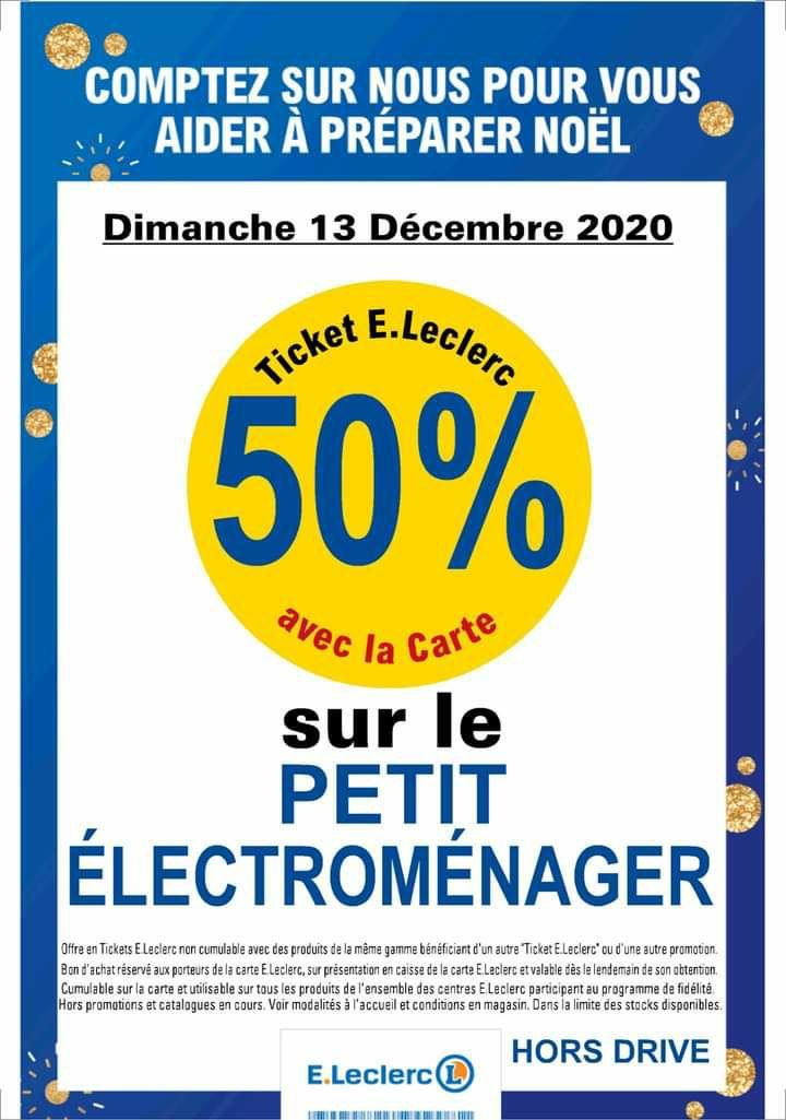 50% en ticket leclerc sur le petit électroménager - Saint-Marcellin (38)