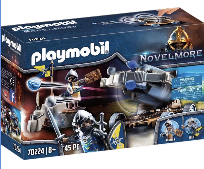 Un jouet Playmobil acheté = 50% de réduction sur le second (parmi une sélection) - Ex: Lot de Jouets Chevaliers Novelmore et baliste 70224