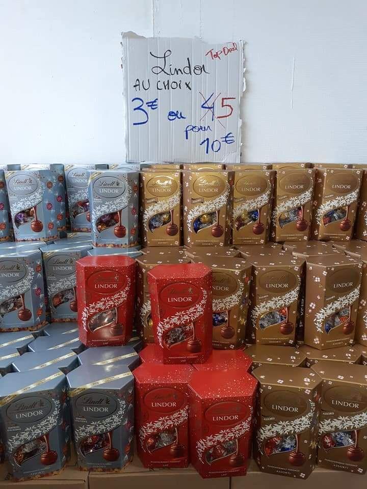 5 boites de chocolat Lindor de Lindt - 337g - Destock and Fruits Villette-d'Anthon (38)