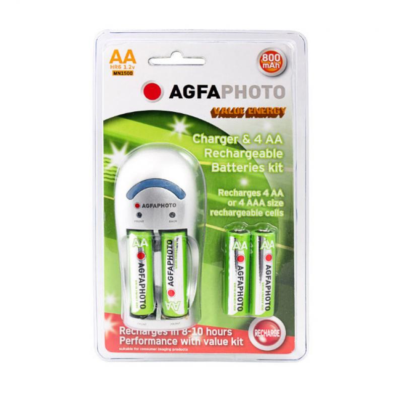 Chargeur de piles AGFA + 4 Piles rechargeables
