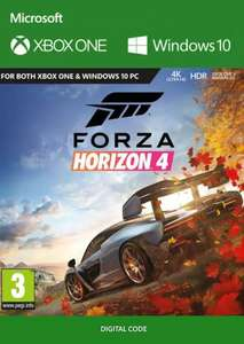 Jeu Forza Horizon 4 sur Xbox One (Dématérialisé)