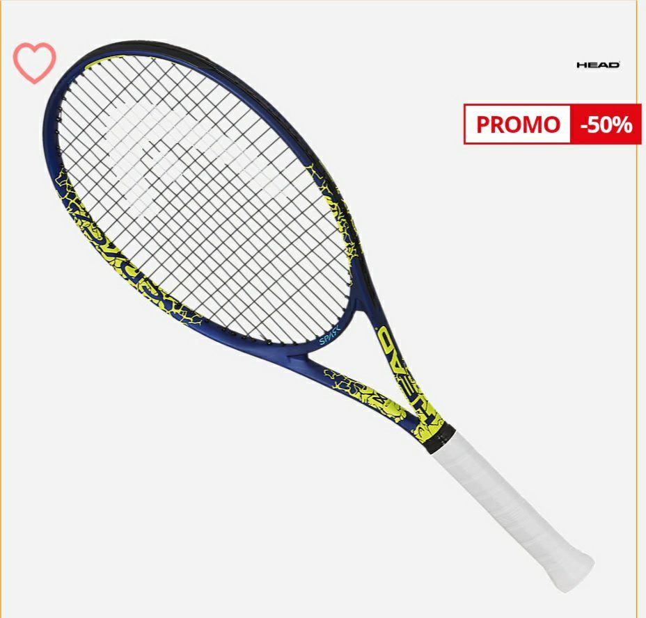 Raquette de tennis cordée adulte Head Spark Elite - Jaune