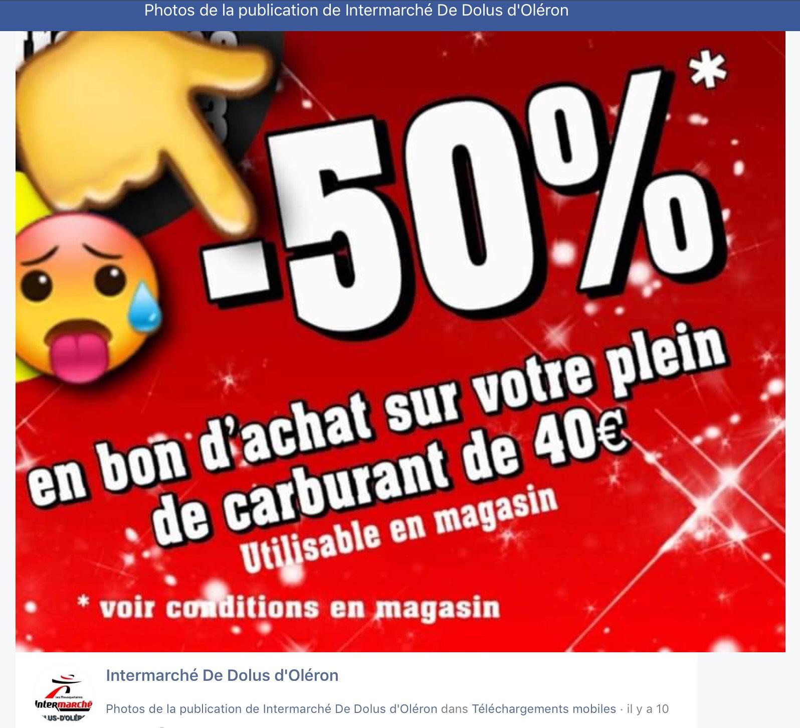 50% en bon d'achat sur un plein de carburant de 40€ - Dolus d'Oléron (17)