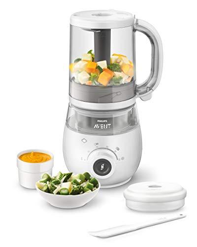 Robot cuiseur-mixeur 4- en-1 Philips SCF883/01 pour bébé + livret de recettes + bol de rangement 120ml