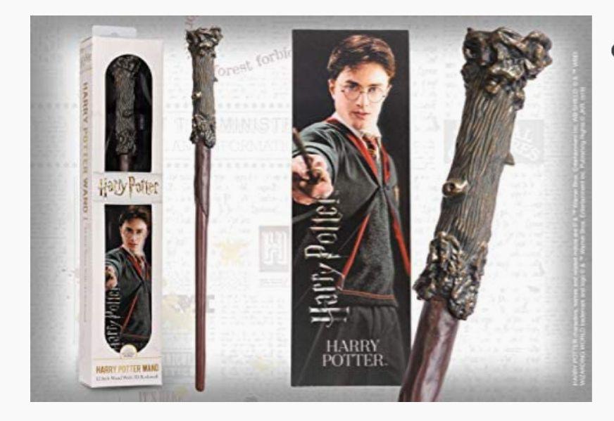 Baguette en PVC et Signet prismatique Harry Potter Collection Noble