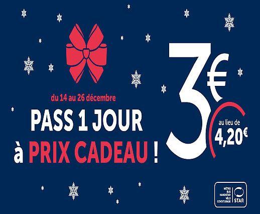 Pass bus et métro 1 jour (24h) - Star Rennes (35)