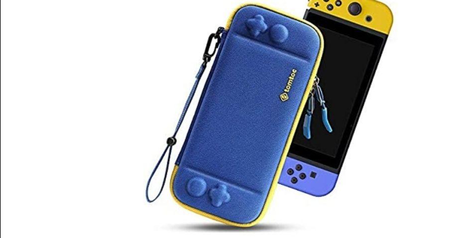 Housse de Transport Rigide Tomtoc pour Nintendo Switch - Bleu (vendeur tiers)