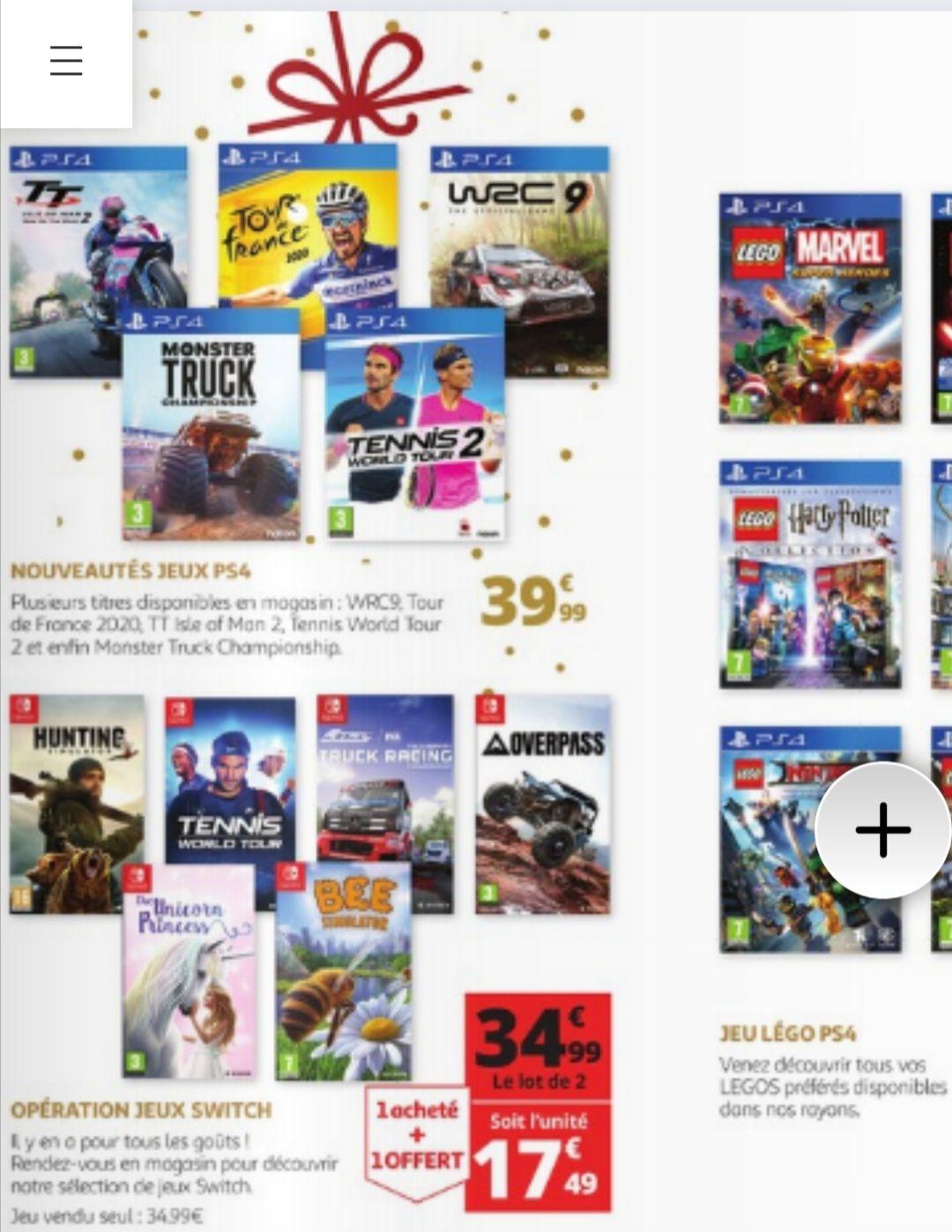 Lot de 2 jeux sur Nintendo Switch (parmi une sélection) - Montgeron Vigneux (94)