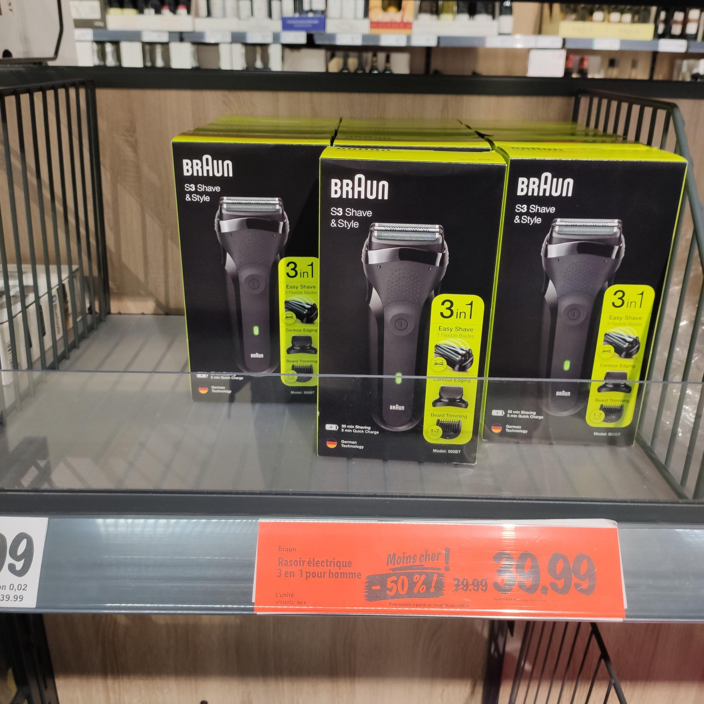 Rasoir électrique Braun Series 3 Shave&Style 300BT - Hellemmes Lille (59)