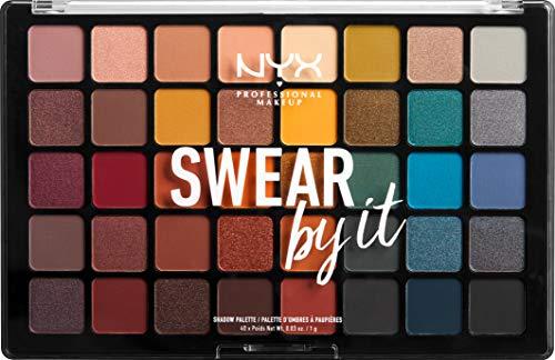 Palette de Fards à Paupières NYX Professional Swear By It - Ombres à Paupières Ultra Pigmentées, 40 Couleurs