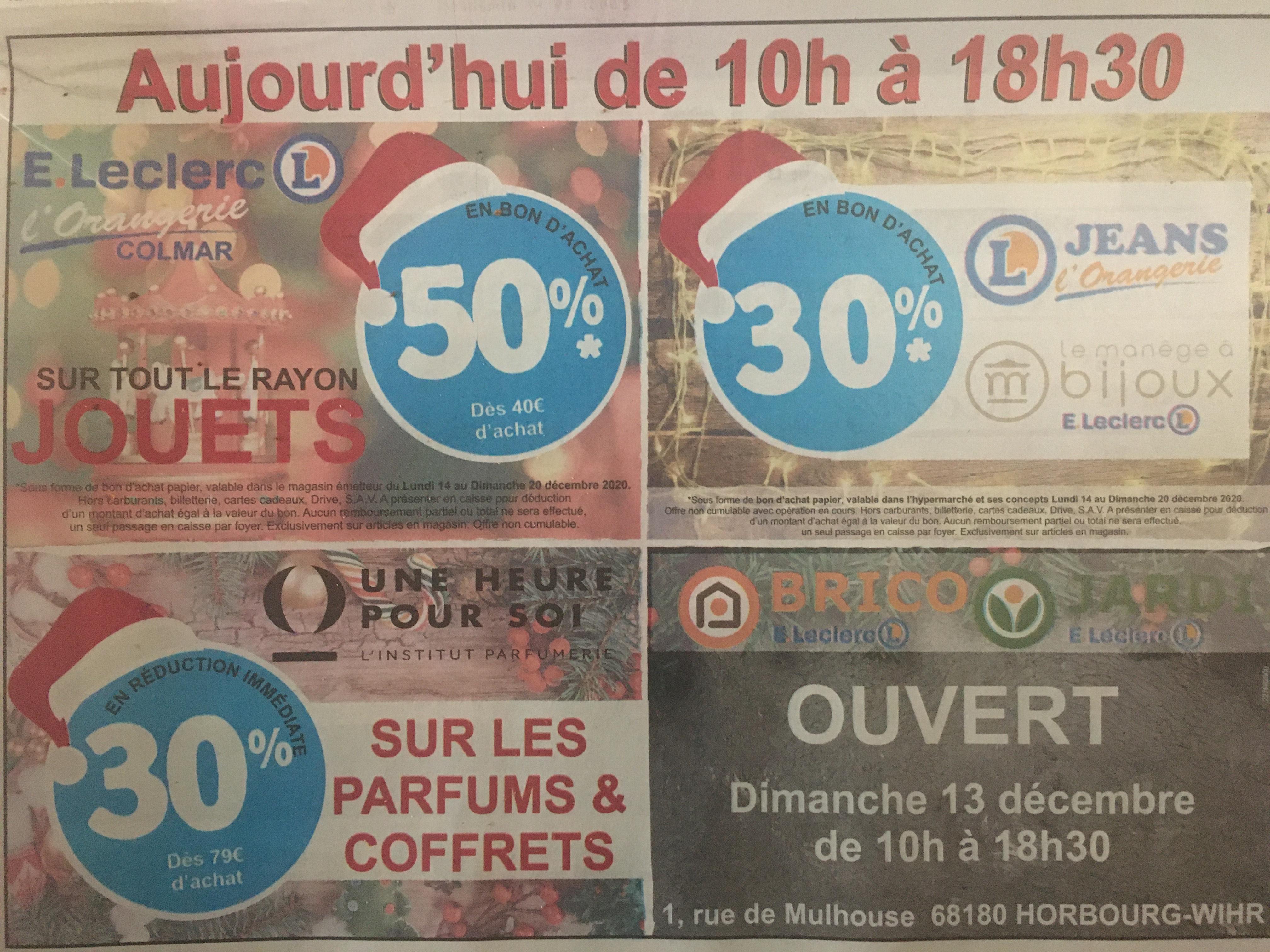 Sélection d'offres promotionnelles - Ex: 50% dès 40€ d'achat surs les jouets - Colmar Orangerie (68)