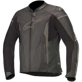 Blouson cuir Alpinestars Faster - noir (la-becanerie.com)