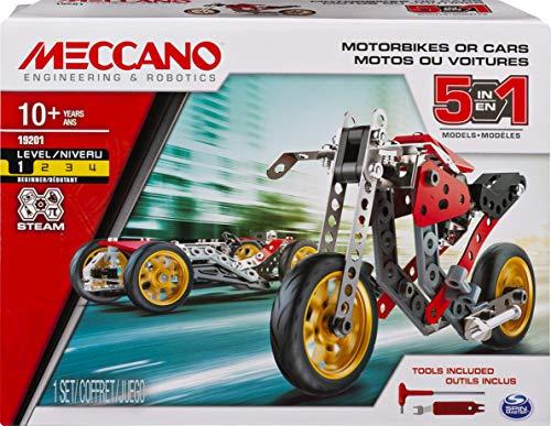 Jeu de Construction Meccano 6053371 Voiture et Moto - 5 modèles