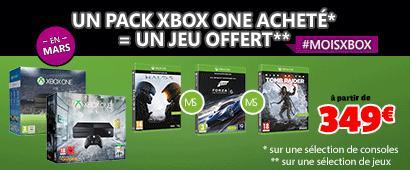 Xbox One 1 To Noire + Fallout 4 + Fallout 3 + un 3ème jeu offert parmi une sélection
