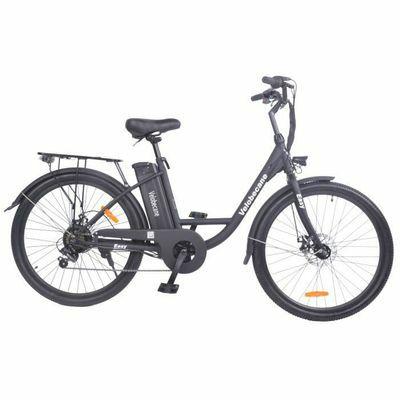Vélo électrique 26' Velobecane - 7 vitesses, Freins à disque, Autonomie 40km, Blanc