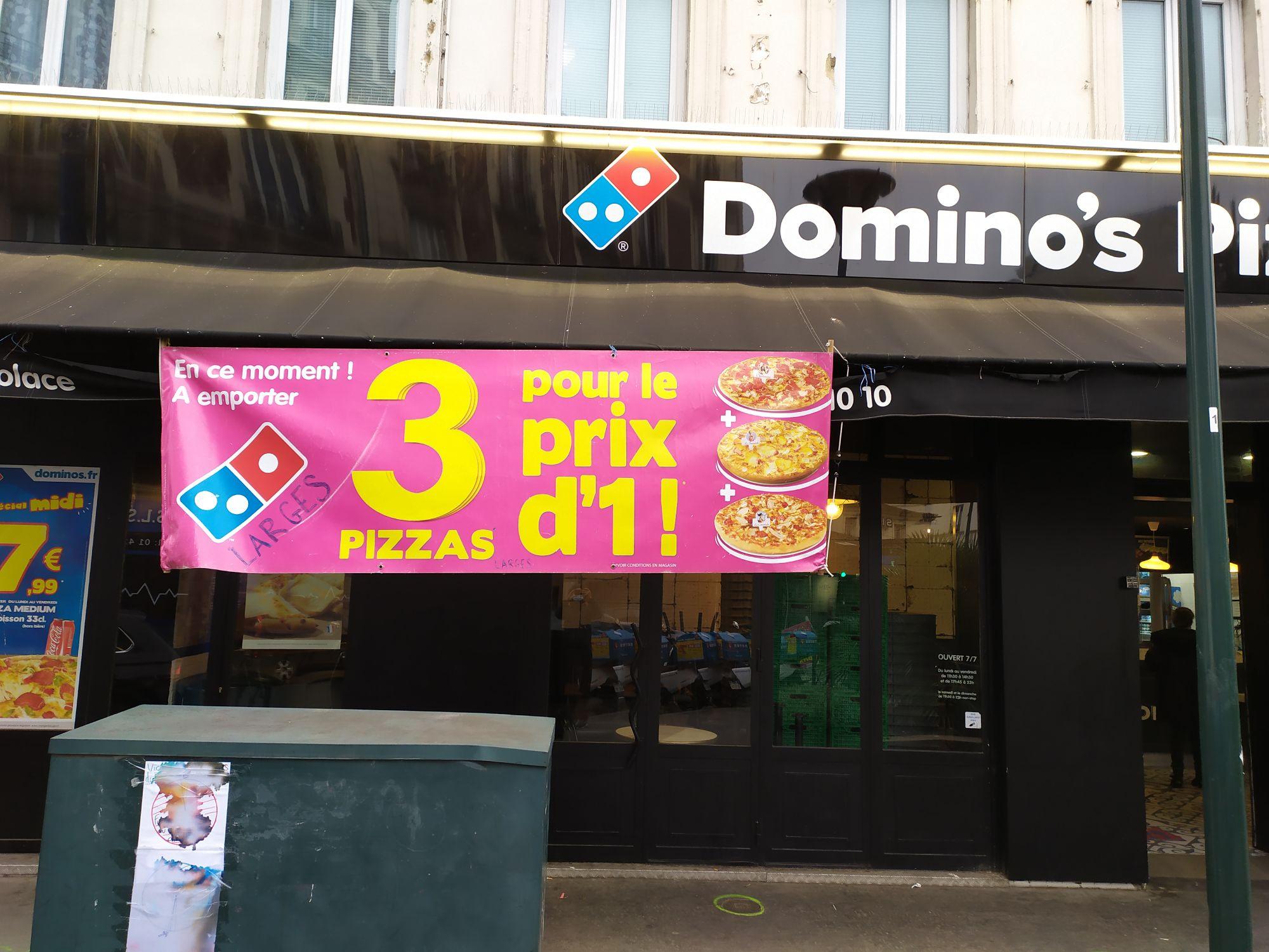 3 Pizzas pour le prix d'1 - Asnières-sur-seine (92)