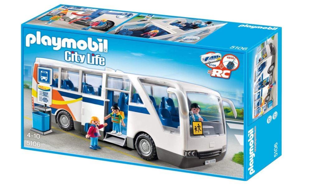 Jouet Playmobil City Life (5106) - Le Car Scolaire