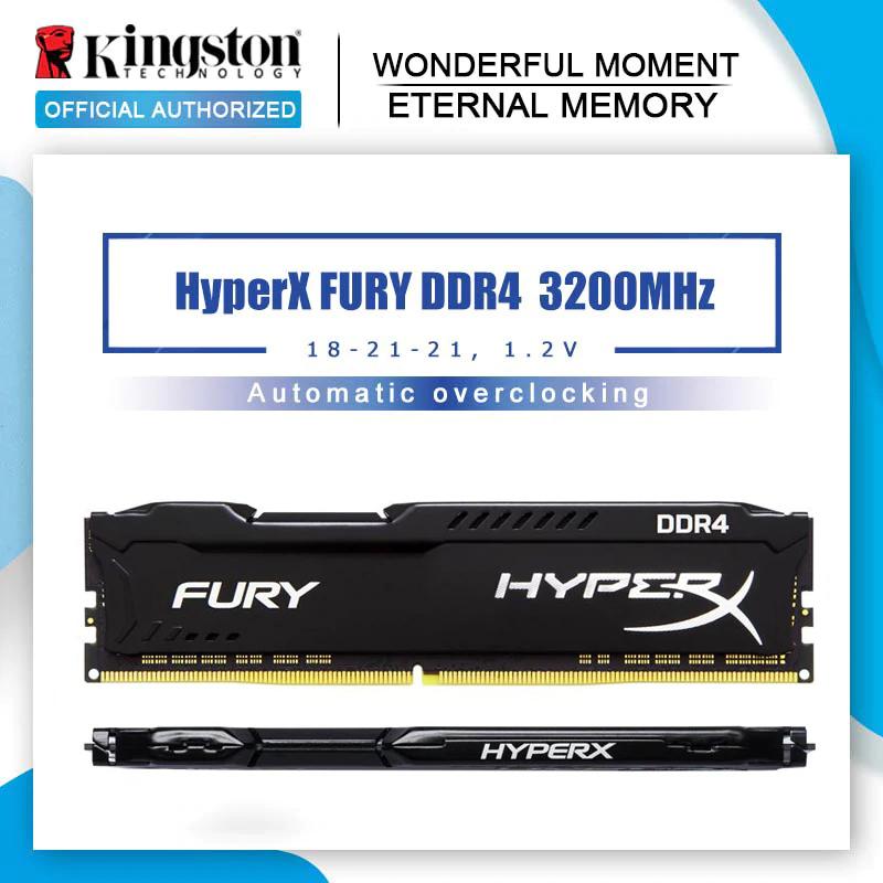 Kit mémoire DDR4 HyperX Fury 16 Go (2x 8 Go) - 3200 MHz, CL18