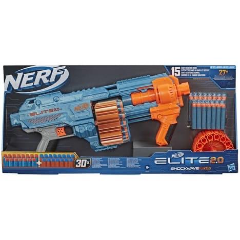 Jouet Hasbro Pistolet Nerf Elite 2.0 Shockwave RD-15 + 30 fléchettes ( via 5,48 sur carte waaoh )