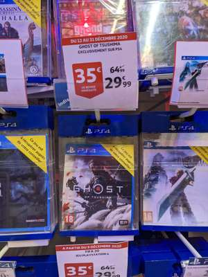 Ghost of tsushima sur PS4 (Auchan Caluire 69)
