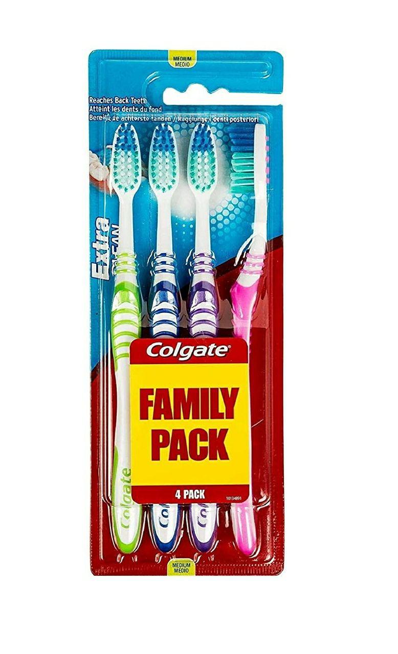 Lot de 4 brosses à dents Colgate Medium