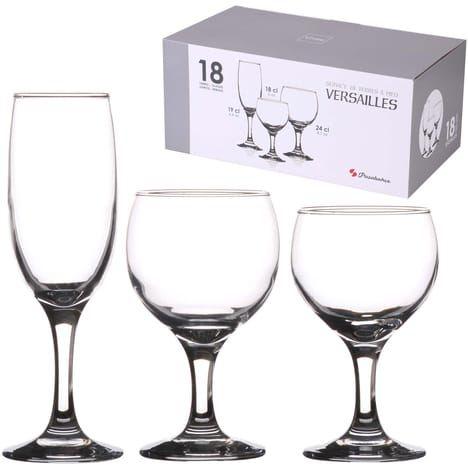 Service de 18 verres à pied Versailles Pasabahce