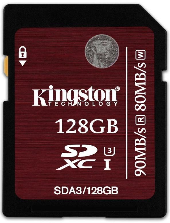 Carte mémoire SDXC Kingston UHS-1 U3 - Classe 10 - 128 Go ( 90Mo/s)