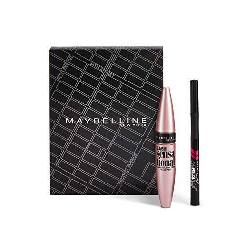 Coffret Maquillage Yeux : Mascara Cils Sensational 01 Noir 9,4 ml + Liner Hyper Precise Allday 700 Noir 1 ml