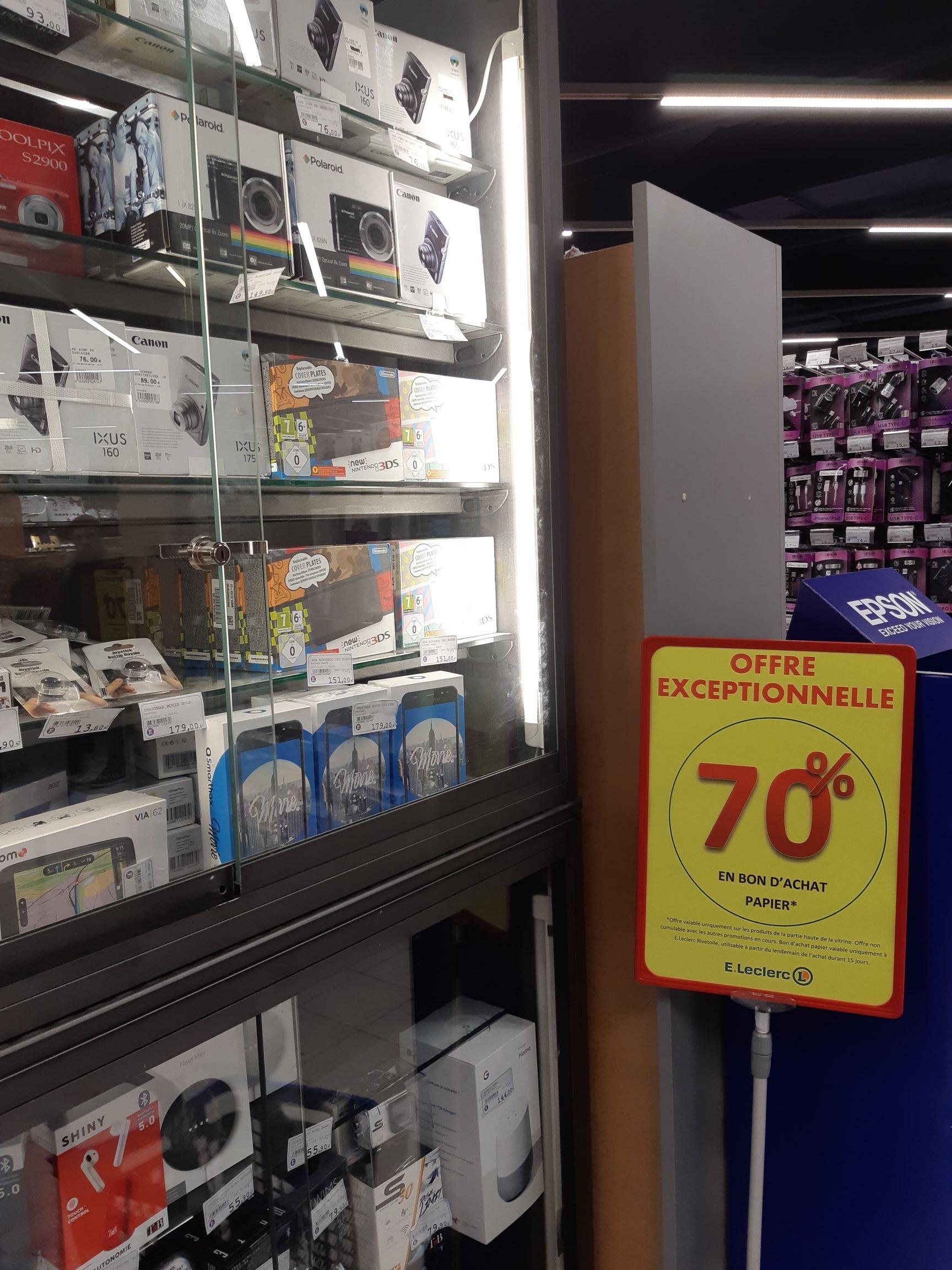 70% crédité en bon d'achat sur une sélection de produits - Strasbourg (67)