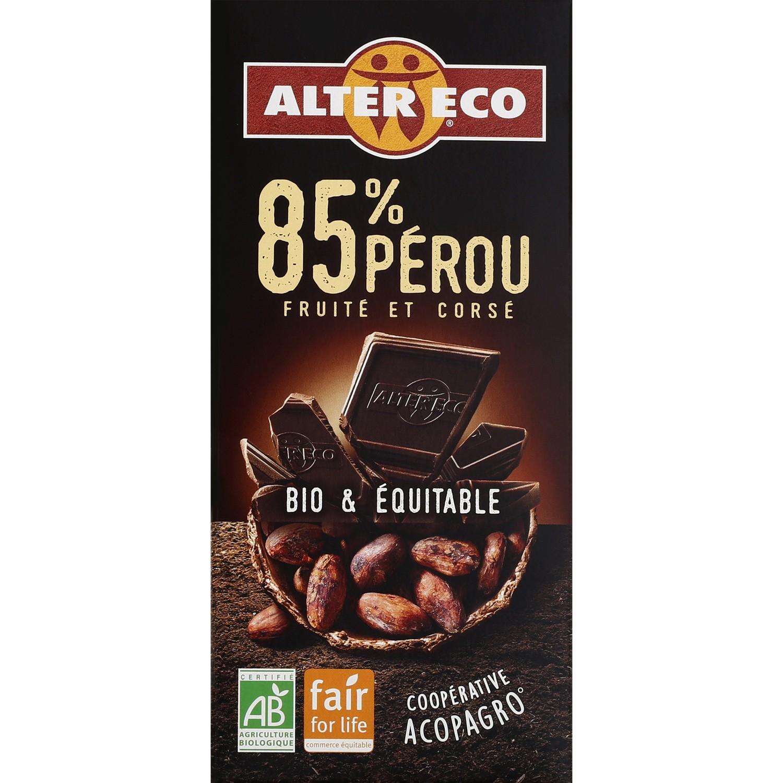 Sélection de tablettes en chocolat noir bio en Promotion - Aix-Noulette (62)