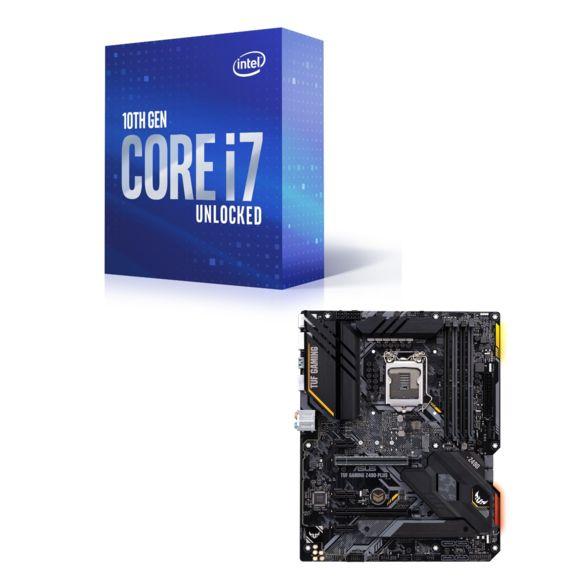Processeur Intel Core i7-10700K - 3.8/5.1 GHz + Carte mère Z490-Plus TUF Gaming (ATX)