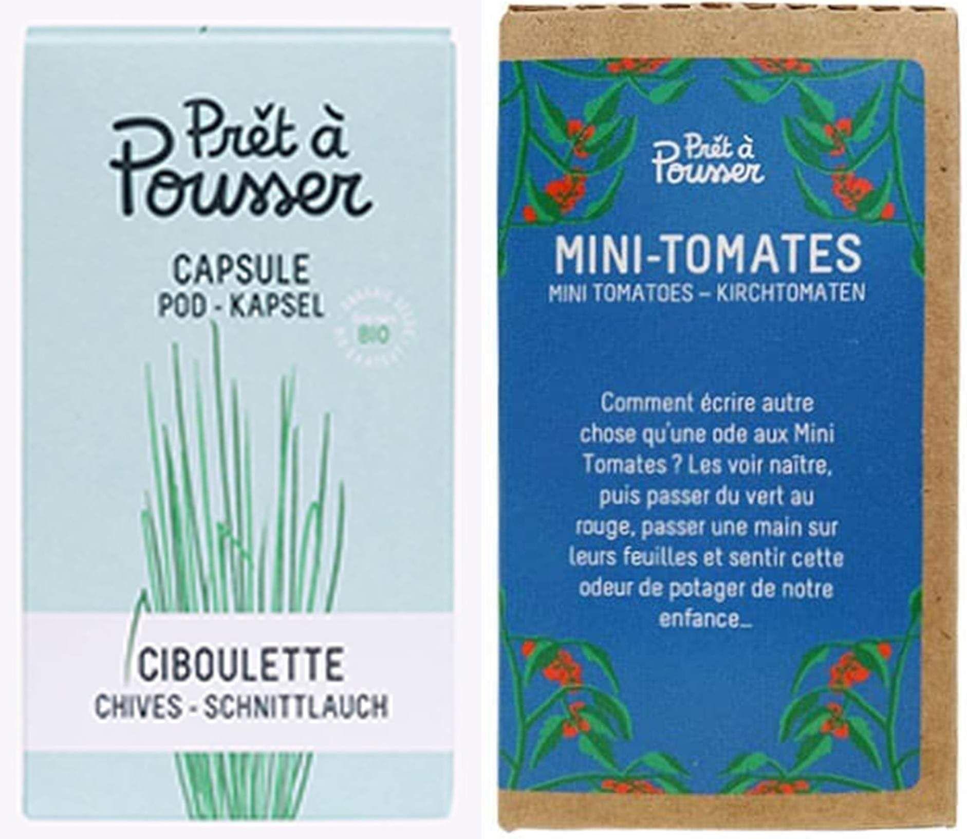Deux capsules offertes à l'achat d'un potager d'intérieur (pretapousser.fr)