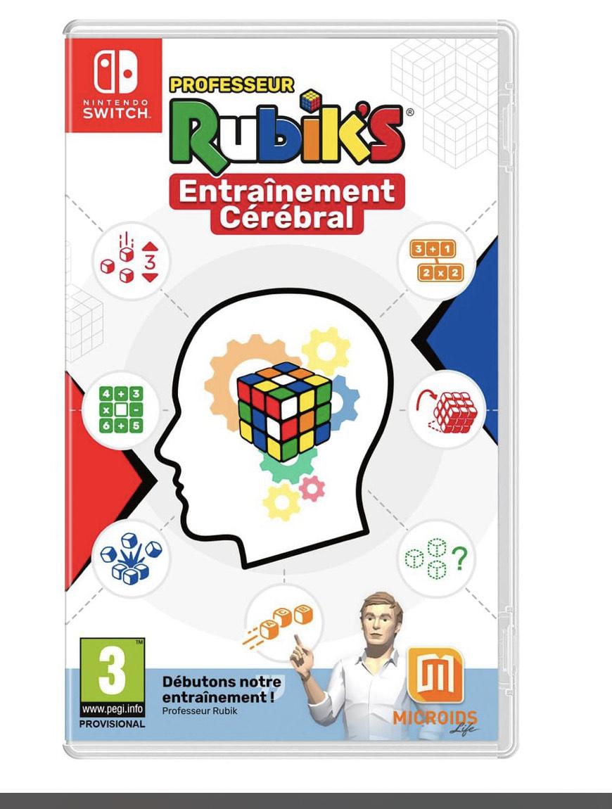Jeu Professeur Rubik's Entrainement Cerebral sur Nintendo Switch et Playstation 4